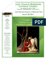 August 28, 2011 Bulletin