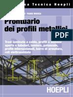 Prontuario dei profili metallici - Anteprima Hoepli Editore
