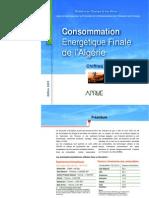 PUBLICATION CONSOMMATION ENERGÉTIQUE FINALE 2007