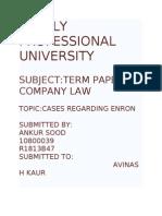 Term Paper ENRON