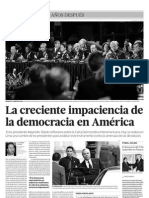 La creciente impaciencia de la democracia en América