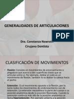 Clase artrología