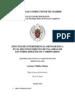 EFECTOS DE INTERFERENCIA ORTOGRÁFICA