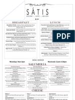 Satis Brunch Menu as of September 13, 2011