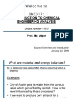 CHE317 Intro Lecture