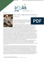Marco Respinti, «Peter J. Stanlis, la legge naturale come fondamento», in «La Bussola Quotidiana» Milano 10/11-09-2011