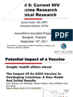 Current HIV Vaccine Research (James Kublin)