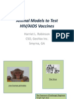 Animal Models to Test Vaccines (Harriet Robinson)