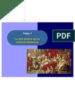 La obra política de los primeros Borbones