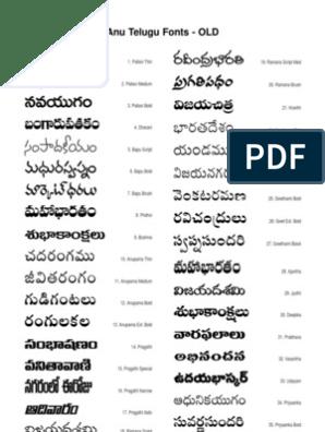 Anu Telugu Fonts Free Download For Windows 8 ••▷ SFB