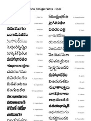 ANU Telugu New Fonts