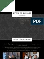 English Oral 2 (Rites of Passage)