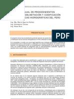 Delimitacion y Codificacion Cuencas