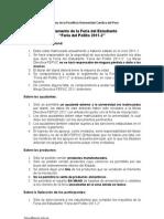 Regramento Feria Del Pollito 2011-2