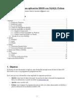 Como realizar una aplicación BBDD con MySQL/Python