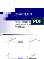 CHAPTER 3 Resultants of Coplanar Force Systems