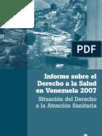 2007 Informe Sobre Derecho a La Salud 2007 Situacion Del Derecho a La Atencion Sanitaria CONVITE