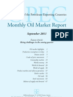 OPEC - Monthly Oil Market Report - September 2011