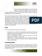 College Park GA Comp Plan, Community Agenda, Chapter 1