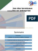 Prez_Gestion Des Terminaux Mobiles en Entreprise