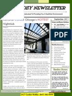 Corcoran Heating Septemeber 2011 Newsletter