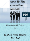 HR policy of a garments- slides by Simon (BUBT)