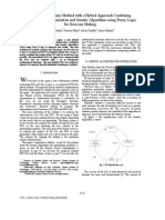 A New Evolutionary Method With a Hybrid Approach Combining Particle Swarm Optimization and Genetic Algorithms Using Fuzzy Logic for Decision Making