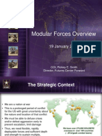 Army Modular Forces Overview