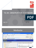 TEM Observation Software Process