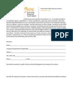 Denis Olsen Public Advocacy Award Form 2011