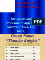 Tax system of UK, USA , India - slides by Simon (BUBT)