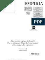 Colectivo IOÉ_Para qué sirve el grupo de discusión_ una revision critica del uso de tecnicas grupales en los estudios sobre migraciones