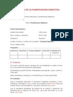 Elementos de La Planificacion Didactica 2012