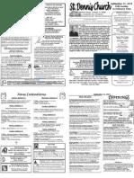 September 11 Bulletin