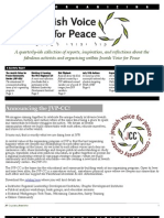 Jewish Voice for Peace Organizing Newsletter Sept 2011