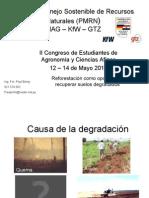 Reforestación de suelos degradados.