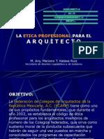 ETICA PROFESIONAL FCARM