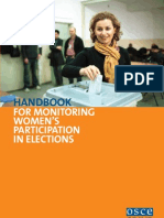 Handbook for Monitoring Women's Participation in Elections