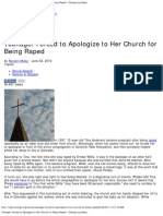 Teenager Forced to Apologize to Her Church for Being Raped _ Change.org News
