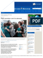 Rape Conviction a Win for Advocate - Concord Monitor