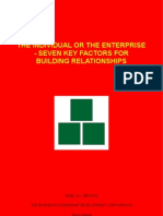 The Individual Or The Enterprise - Seven Key Factors For Building Relationships