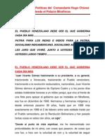 Orientaciones Politicas del  Comandante Hugo Chàvez desde el Palacio de Miraflores.