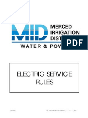 Merced-Irrigation-District-Electric-Service-Rules | Mains