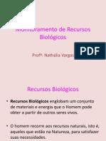 Monitoramento de Recursos Biológicos aula 1