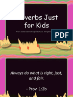 Proverbs Just for Kids & Youth