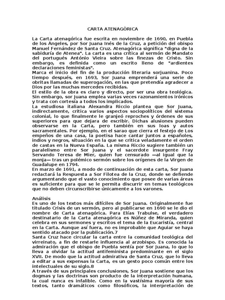 Carta Atenagorica Pdf Download