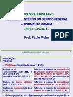 IGEPP – Processo legislativo – Parte 4 (RISF Título VIII)