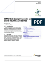 Design Checklist and Board Mounting Guidelines for MMA845xQ (AN4077 - Free Scale)