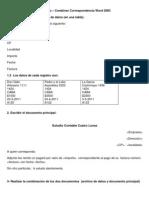 Ejercicio Combinar Correspondencia Word 2003