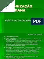 APRESENTAÇÃO DE ARBORIZAÇÃO URBANA